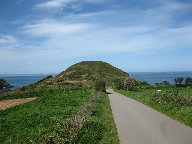Hill above the bay at Greve De Lecq