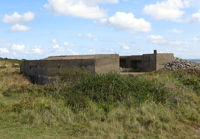 World War Two fortification remains