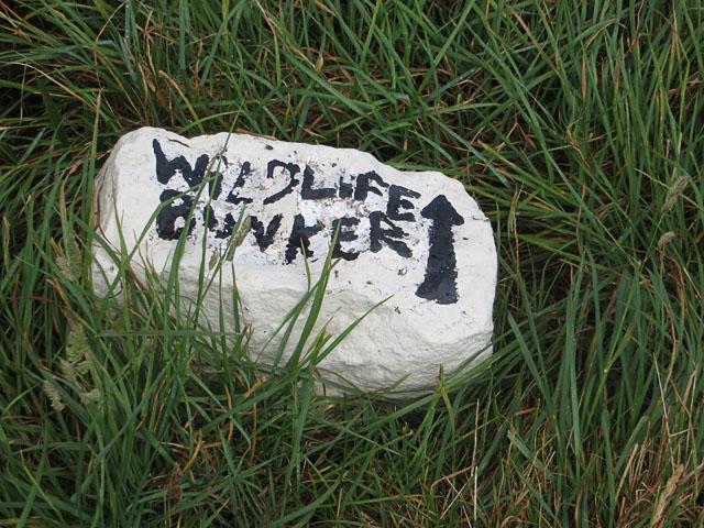 The Sign to the Alderney Wildlife Bunker