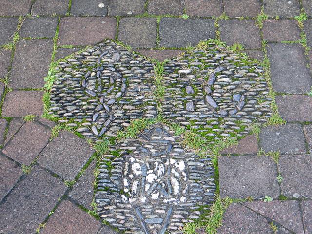 A Pebble Path Mosaic