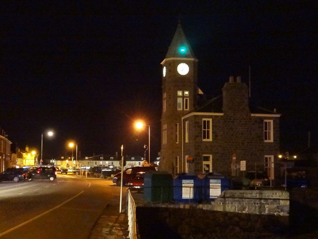 Clock tower on quayside