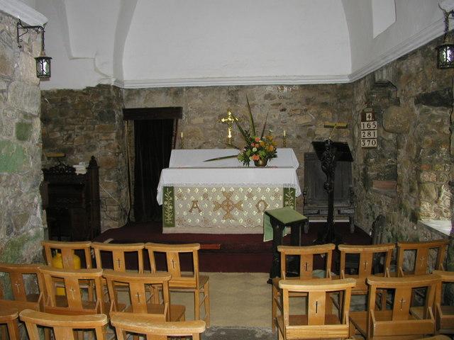 Le Manoir Church Interior, Herm