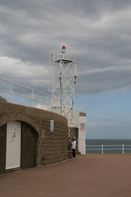 The end of St Catherine's breakwater