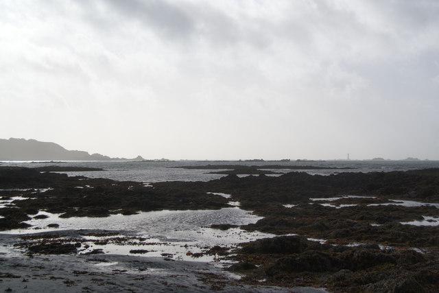 Rocky beach at L'Eree Bay