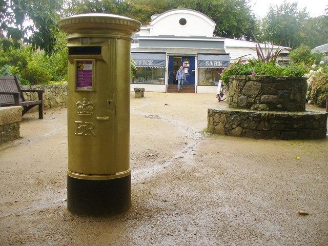 Sark - Golden Post Box