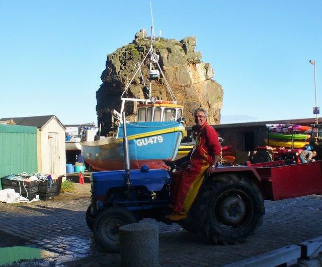 Creux Harbour - Tractor