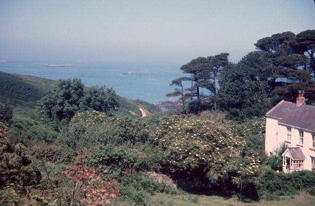 Belvoir House and coastline, July 1978