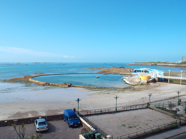Bathing pool at Havre des Pas, St. Helier