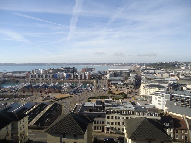 St Helier from Fort Regent