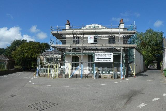Scaffold clad building