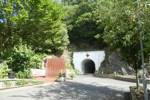 Jersey War Tunnels entrance