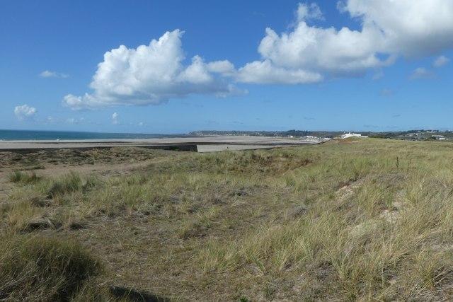 Dunes beside Grande Route des Mielles