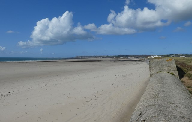 Beach from the sea wall