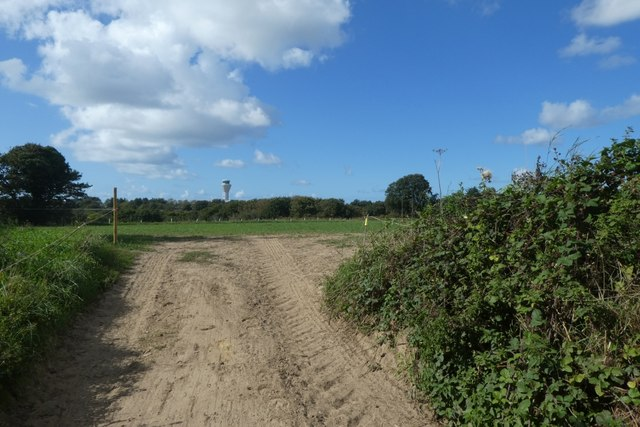 Track into a field