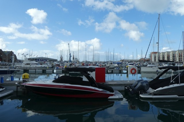 St. Helier Marina at high tide