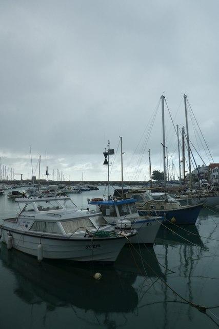 Boats in St. Aubin harbour