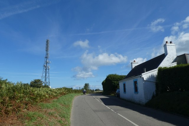 Cottages and transmitter