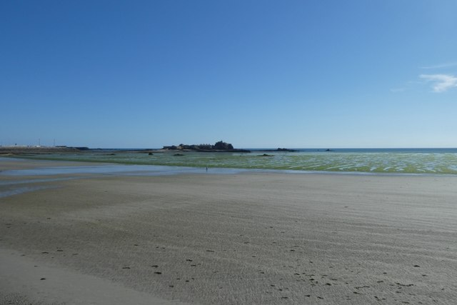 Beach beside the sea wall