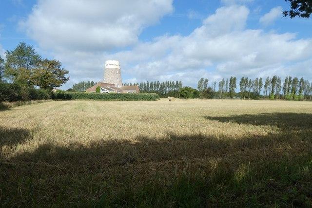 Farmland near a windmill