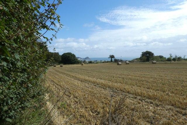 Farmland beside La Rue du Champ