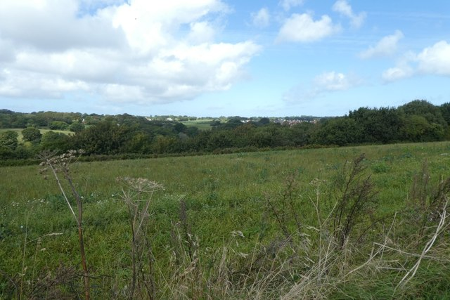 Farmland above the reservoir