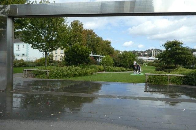 Water arch at Millennium Park