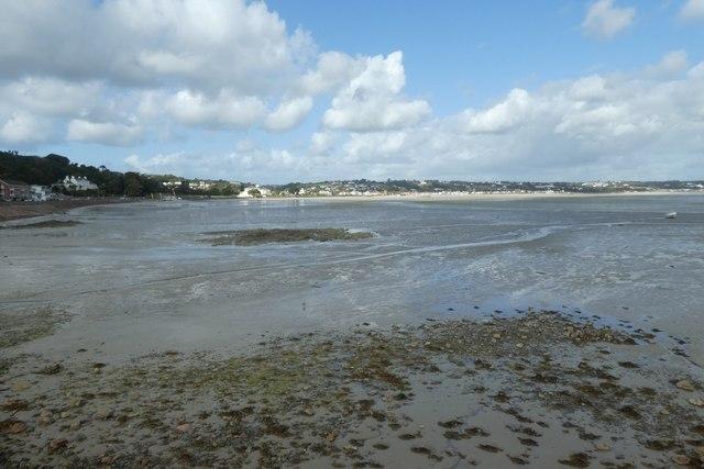 Along the beach near St. Aubin
