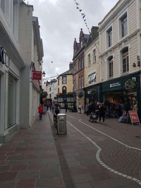 Looking along King Street