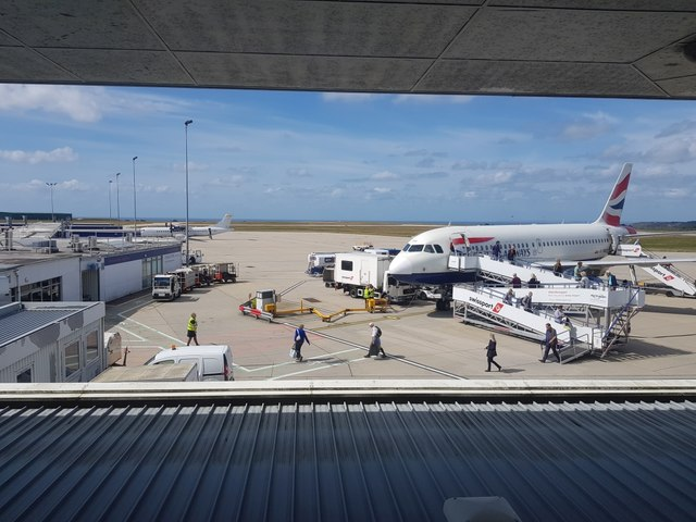 BA flight disembarking