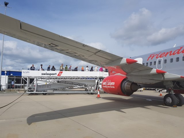 Jet2 flight boarding