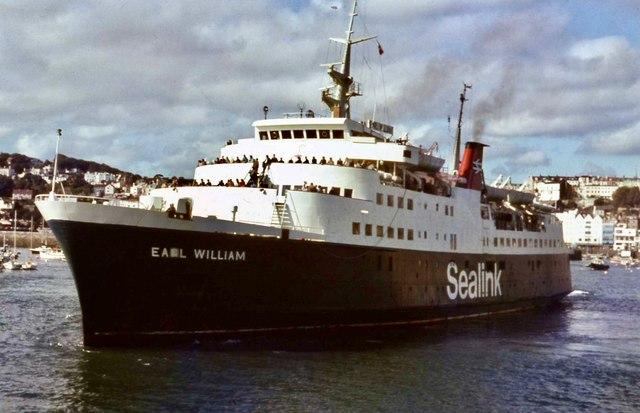 Earl William leaving St Peter Port